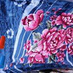 صادرات پتو یک نفره رز گل برجسته